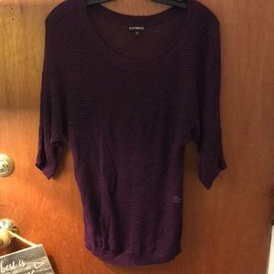 Purple dolman sweater
